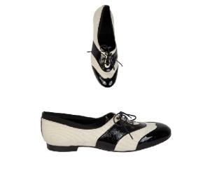 zapato masculino bicolor con cordones