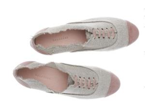 zapatos en lino y piel maquillaje de malababa