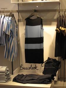vestido azul y negro tienda cos de hm en madrid