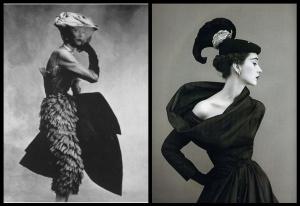 Algunos de los diseños de Cristobal Balenciaga
