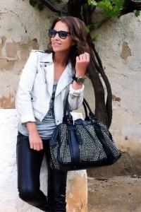 Look rockero de Paula Echevarria