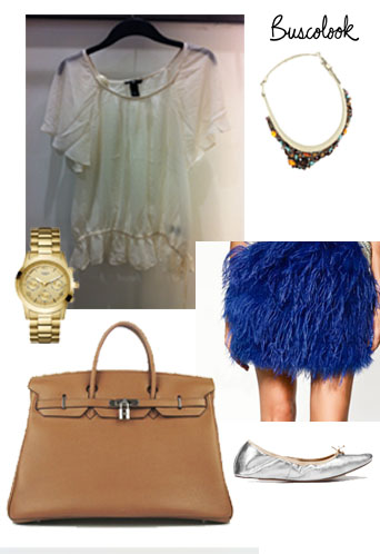 olivia palermo azul blue skirt Berlin Fashion Week