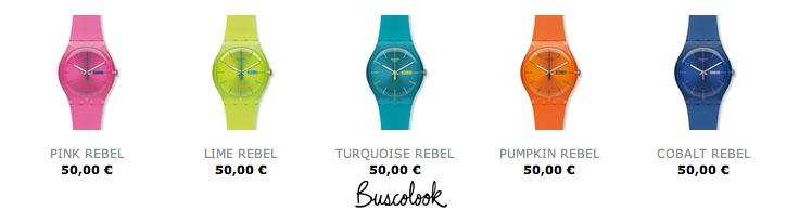 reloj amarilo reloj naranja rojo verde azul