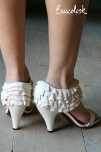 zapato novia sandalia volantes diferente retro