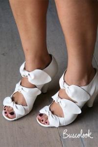 zapato novia sandalia lazos diferente retro