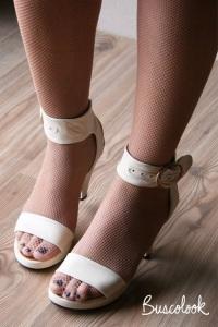 zapato sandalia novia pulsera diferente retro