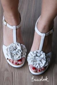 zapato sandalia novia flor diferente retro