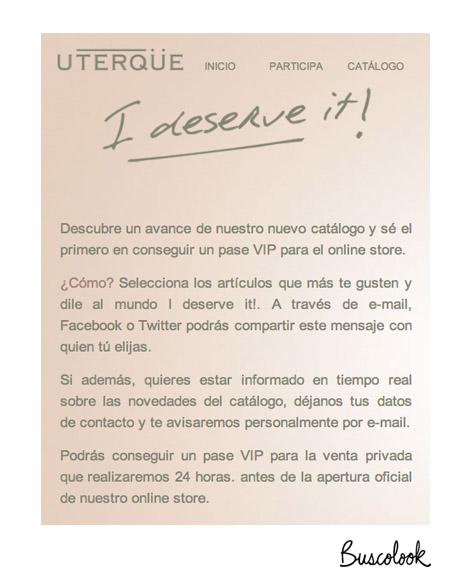 uterque tienda online acción I deserve it 6 septiembre 2011