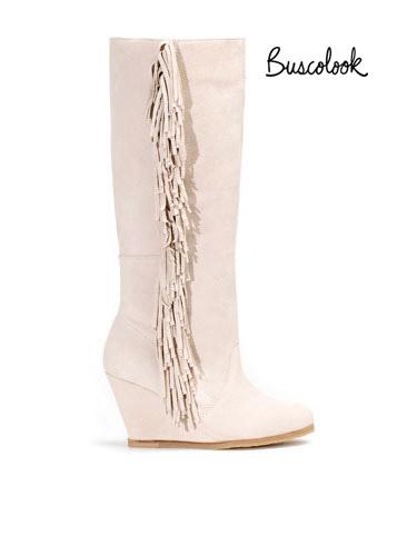 botas flecos blancas cuña stradivarius clon isabel marant otoño 2011 invierno 2012