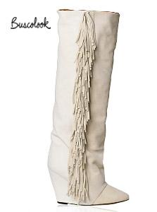 botas flecos blancas cuña isabel marant otoño 2011 invierno 2012