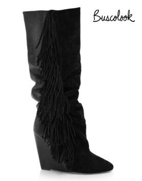 botas flecos negras cuña isabel marant otoño 2011 invierno 2012