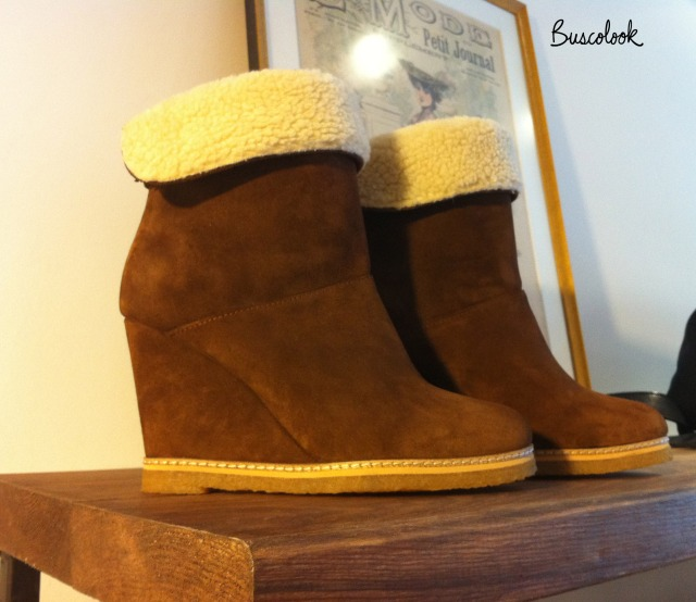botines marrones cuña pelo tienda cosette otoño 2011