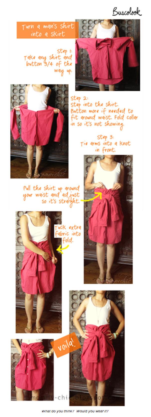 do it yourself hazlo tú misma una camisa que se convierte en falda mommy chic