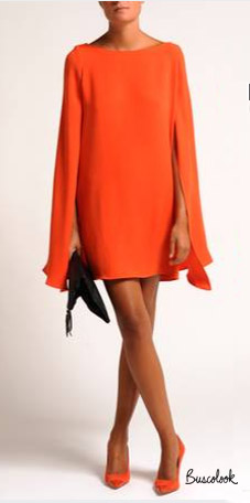 vestido naranja otoño 2011 invierno 2012