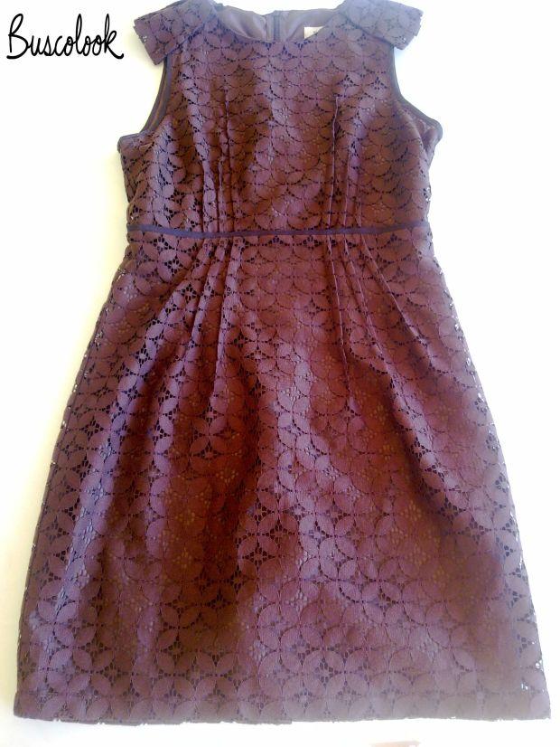 vestido marrón , vestido encaje, vestido boda, vestido bautizo