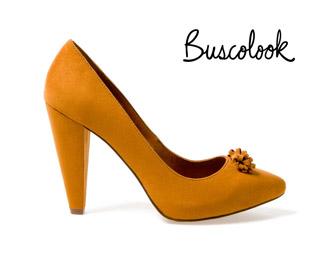zapatos salón color amarillo ante otoño 2011 invierno 2012