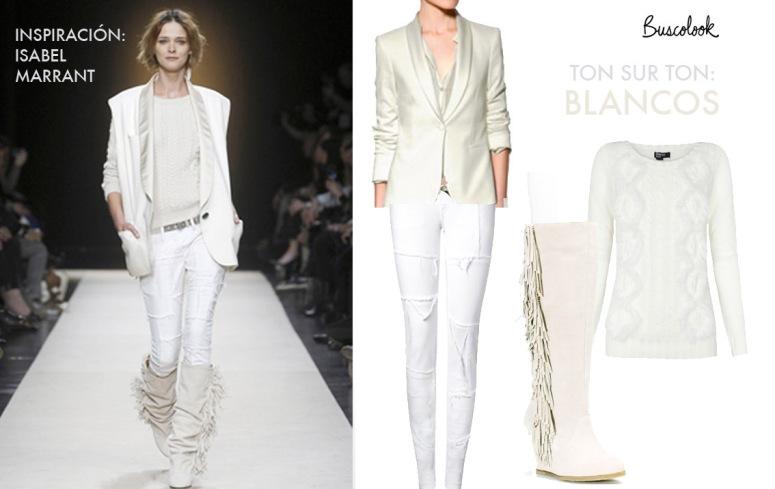 pantalones de pitillo blancos mango chaqueta smoking zara botas flecos stradivarius jersey ochos Blanco
