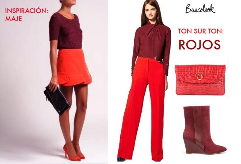 pantalones rojos asos cartera cocodrilo uterqüe botines burdeos zara