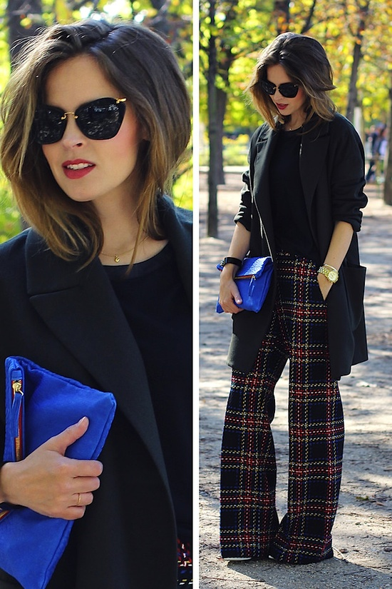 clutch-azul-pantalon-cuadros-look