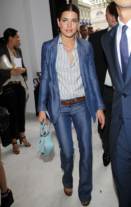 USA/AUS/NZ ONLY Charlotte Casiraghi attending Gucci spring/summer 2013 showcase