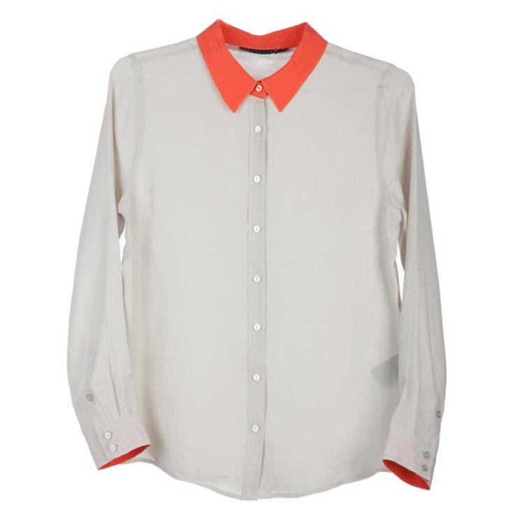 Camisa-seda-gris-cuello-rojo-buscolook