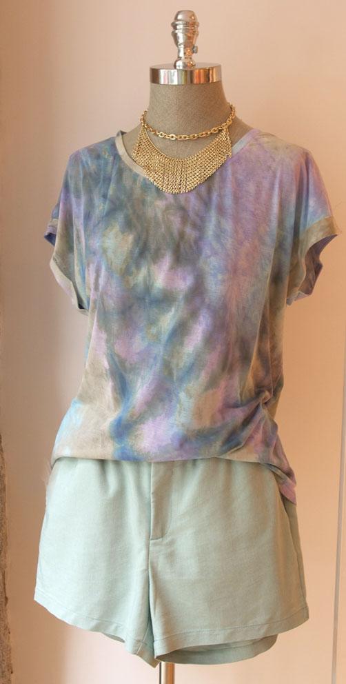 look camiseta tie dye