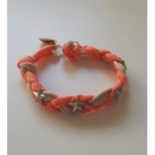 pulsera-naranja-estrellas-beige