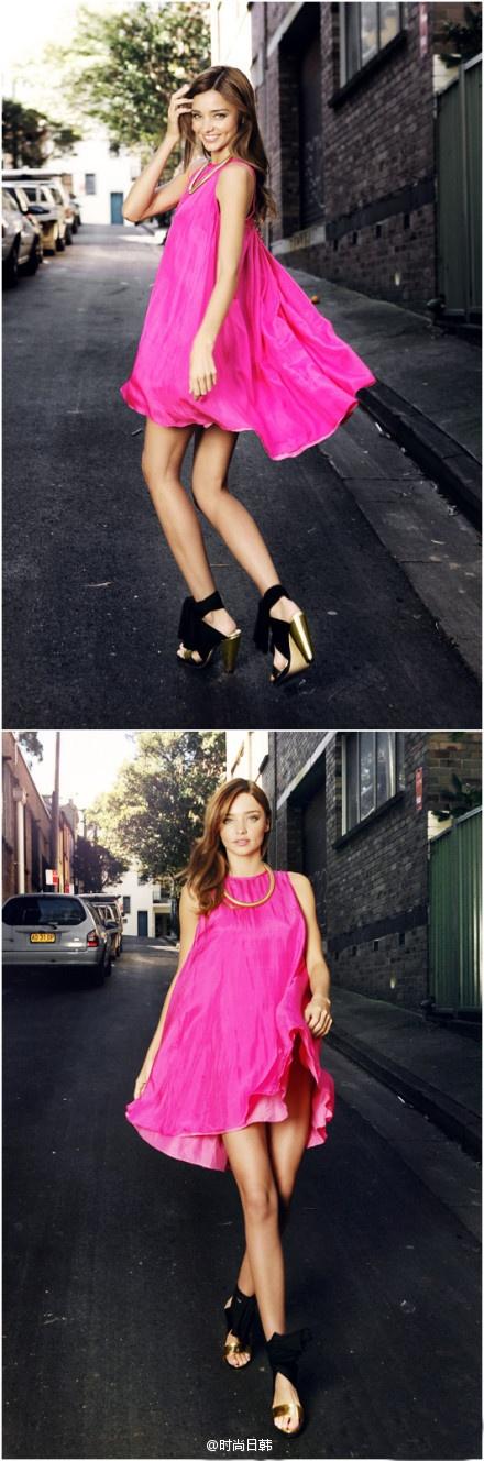 miranda-kerr-vestido-fucsia-pink-dress