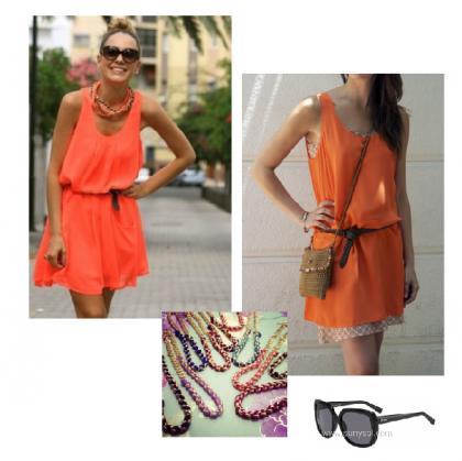 look-vestido-naranja-inspiración