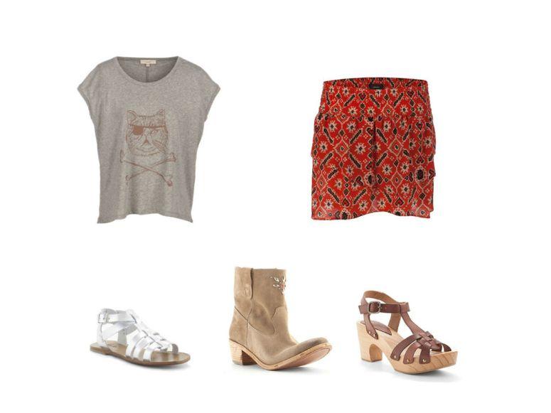 look-falda-etnica-camiseta-basica
