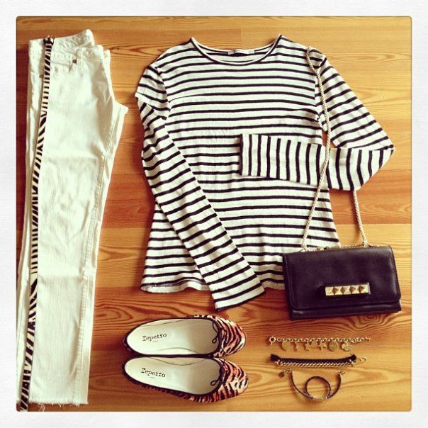look-theworkinggirl-stripes-white-jeans-leopard