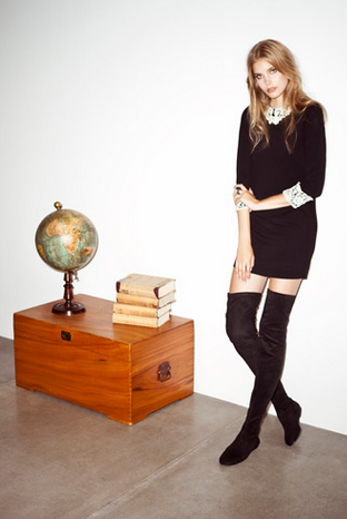 nueva-coleccion-otoño-2013-hakei-botas-encima-rodilla-vestido