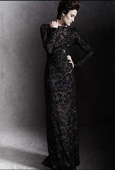 vestido-largo-negro- pedreria-sayan-madrid-buscolook