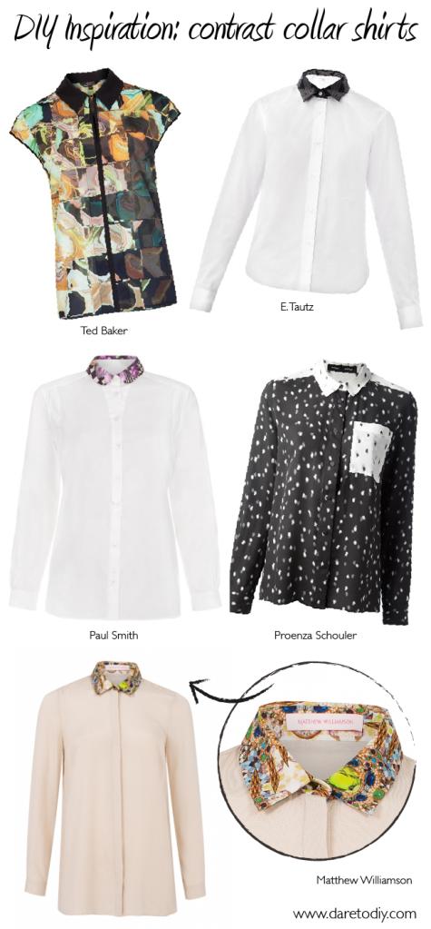 1 DIY Inspiration contrast collar print shirts matthew williamson Ted baker Paul smith proenza schouler