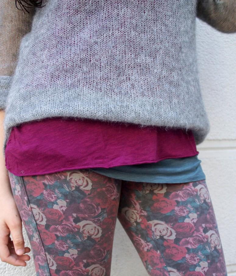 detalle pantalon flores