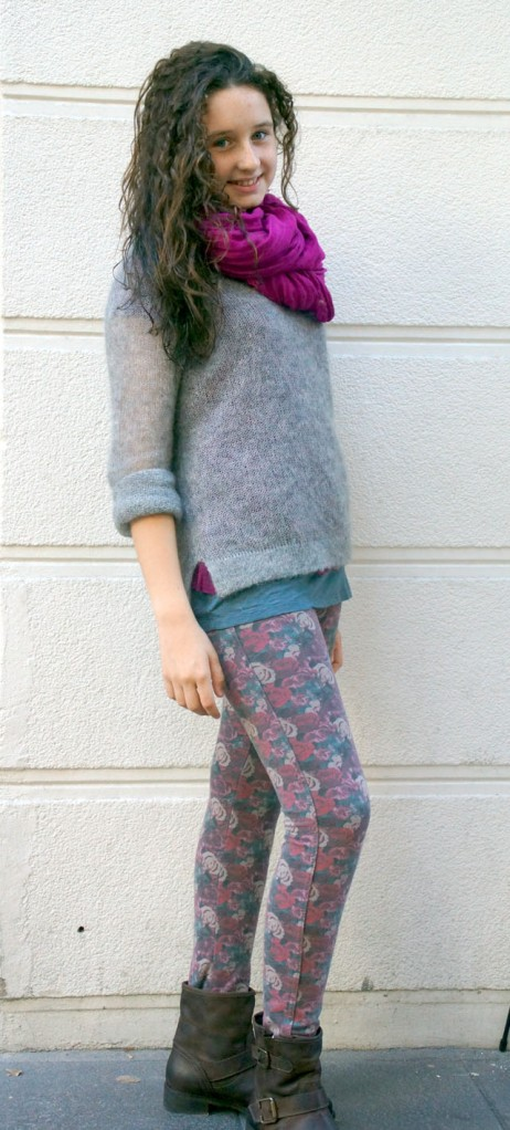 look pantalon flores teen