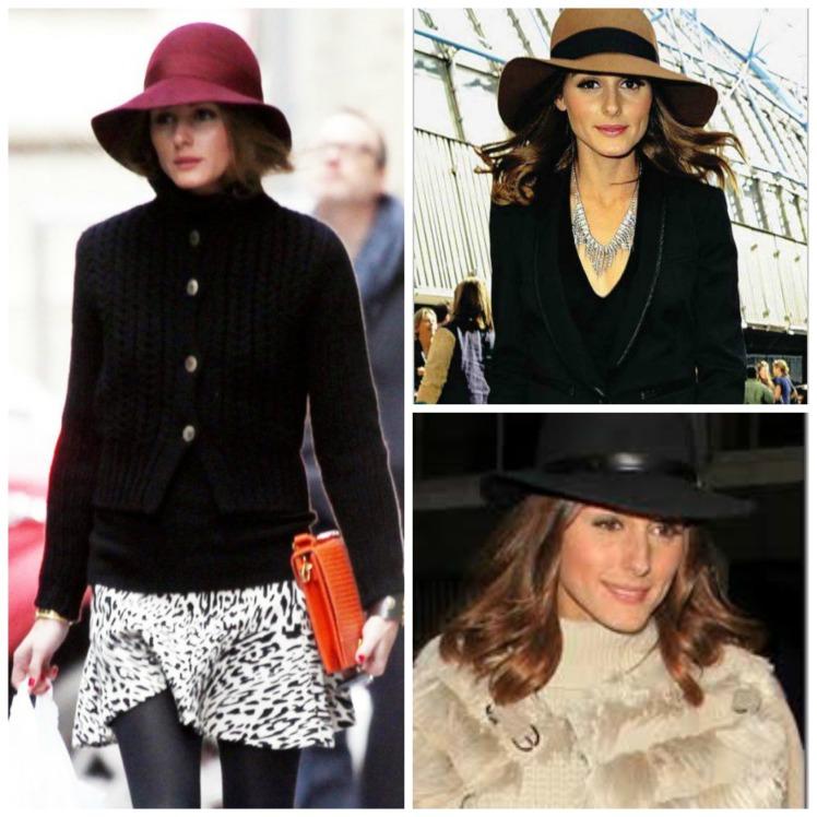 Olivia Palermo con sombreros