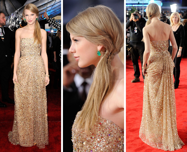 Taylor-Swift-In-Reem-Acra-_-2011-American-Music-Awards