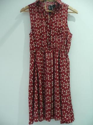 vestido-granate-corto-estampado-xumeroom-maspersonal-buscolook