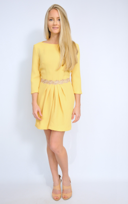 vestido-bodas-amarillo-manga-larga-tiendas-buscolook