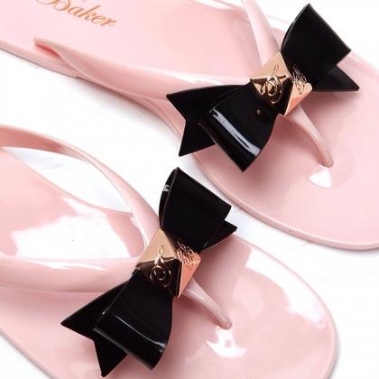 sandalias ted baker rosas negras lazo buscolook chanclas moda fashion madrid online rebajas