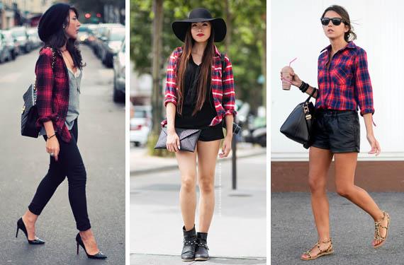 camisas cuadros mujer cosmopolita look moda fashion outfit rebajas verano