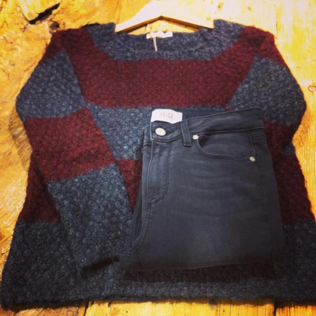 the_closet_look_moda_fashion_jersey_rayas_granate_gris_tiendas_bilbao
