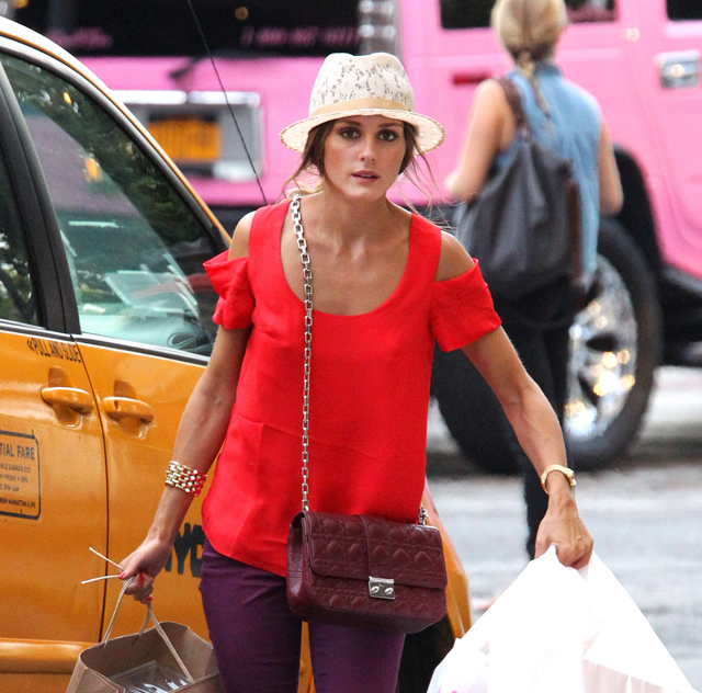 Olivia Palermo Returning Home From Shopping Trip in NYC